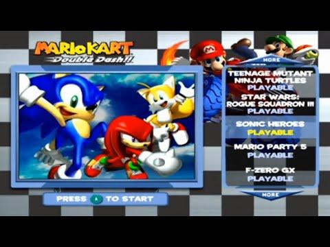 Sonic Heroes Demo - Mario Kart Bonus Disc