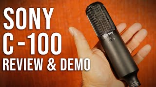 Sony C-100 Hi-Res, Dual-Capsule, Large-Diaphragm Microphone | Hands-On Review and Demo