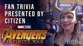 Fan Character Trivia Challenge at the Avengers: Infinity War Premiere
