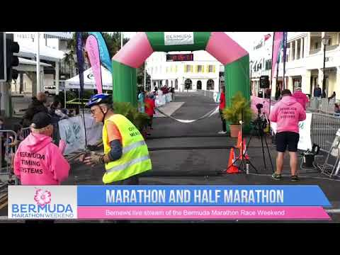 Bermuda Marathon & Half-Marathon Finish Line, Jan 20 2019
