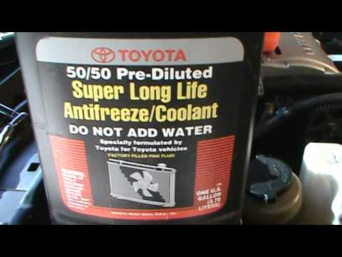 how to change coolant in toyota corolla