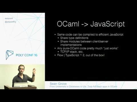 From Unikernels to Databases to UIs - Truly full-stack apps in OCaml