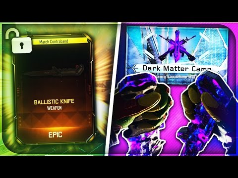 "UNLOCKING DARK MATTER ""BALLISTIC KNIFE"" *LIVE* REACTION - BLACK OPS 3 ""DARK MATTER"" KNIFE GAMEPLAY!"