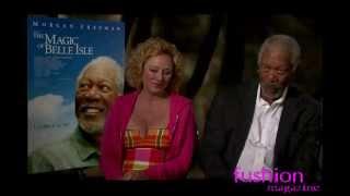 Morgan Freeman Virginia Madsen interview -- THE MAGIC OF BELLE ISLE