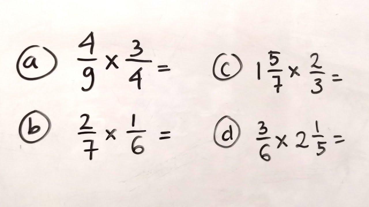 Perkalian Pecahan Biasa Dan Pecahan Campuran 2 Matematika Sd Youtube