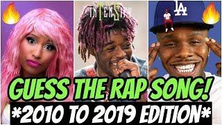 GUESS THE RAP SONG *DECADE RECAP EDITION* (2010-2019) 🔥