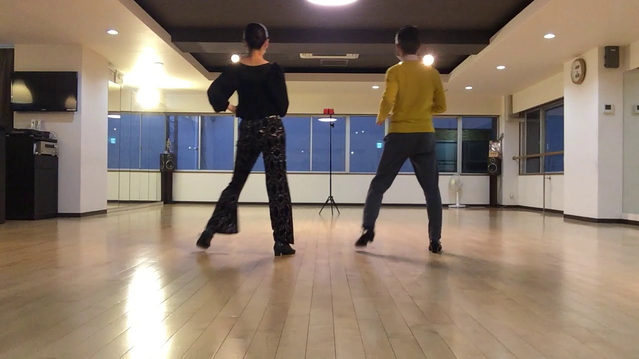 運動不足解消75 初級編 スクエアルンバ ホールドして一緒に踊ってみました。