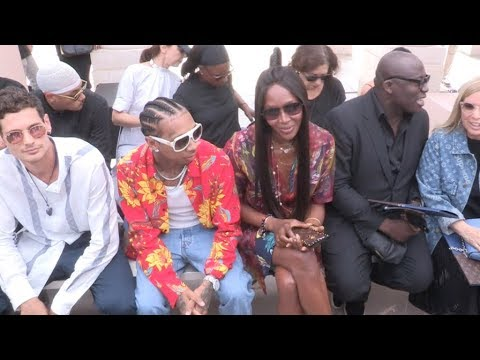 Naomi Campbell, Lily Allen, Tyga and more front row of Louis Vuitton Menswear