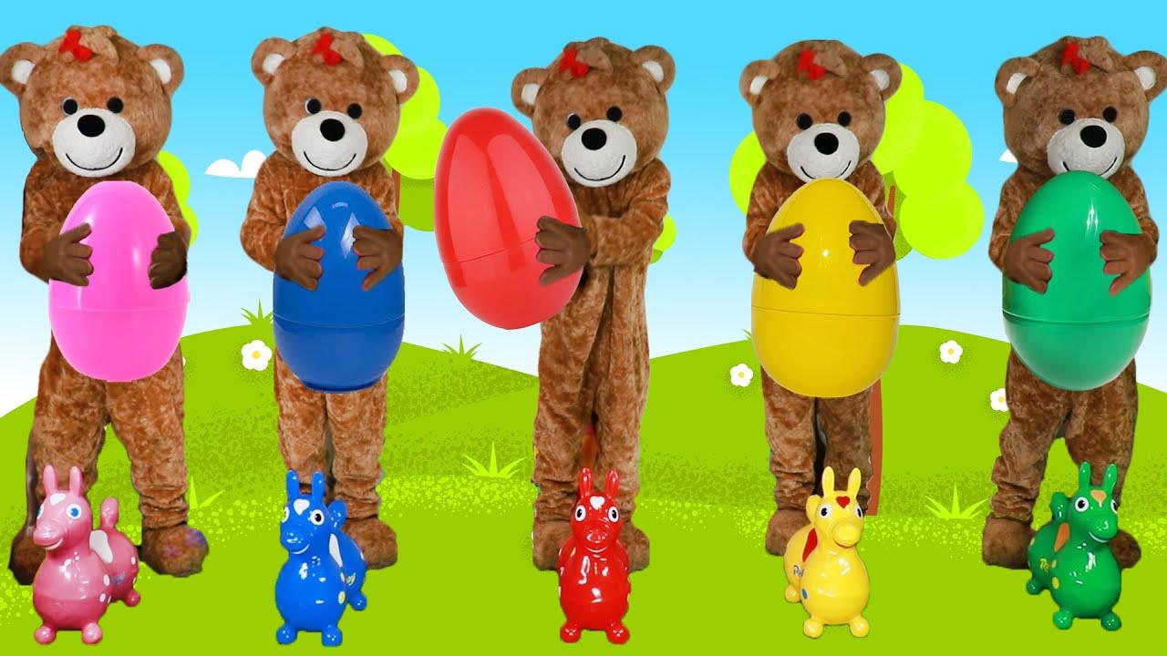 小熊版 Humpty Dumpty趣味兒歌!Humpty Dumpty Kids Nursery Rhymes & Kids Song - 馬樹奇趣秀Mashu ToysReview