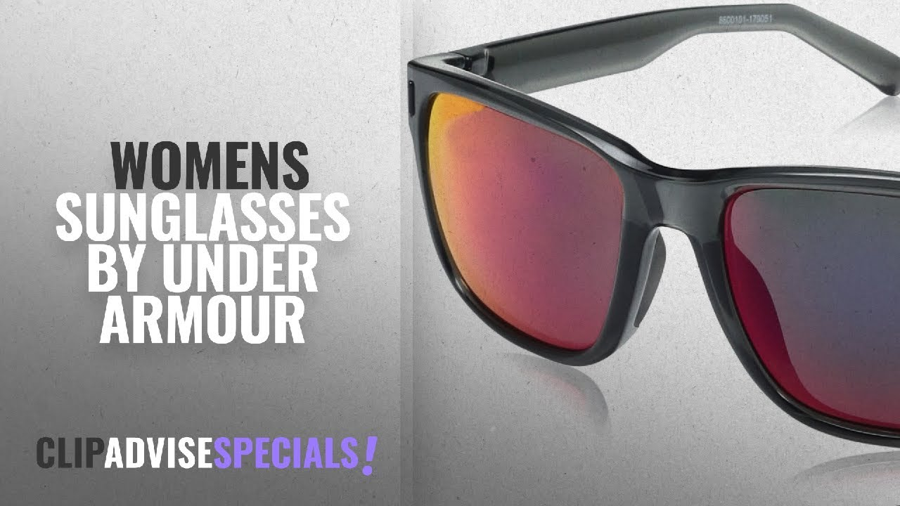 ca7a62e3e6 Top 10 Under Armour Womens Sunglasses [2018]: Under Armour Ua Assist Shiny  Crystal Smoke