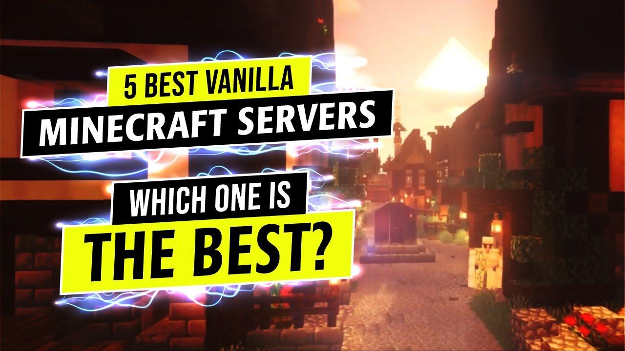 🕵️ 5 Best Vanilla Minecraft Servers: No Mods No Plugins Only