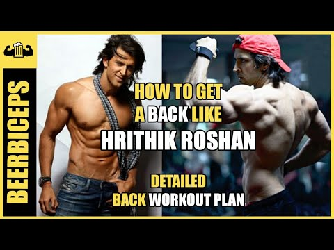 Hrithik Roshan Back Workout - Detailed Back Workout in Gym | BeerBiceps Bollywood Bodies
