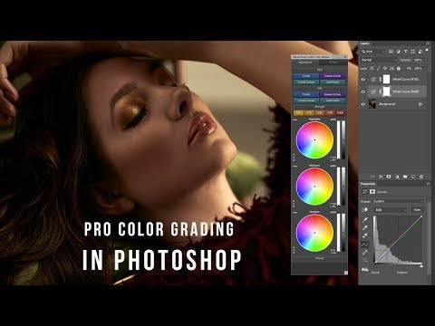 Pro Color Grading In Photoshop Using Retouching Toolkit Color Wheels