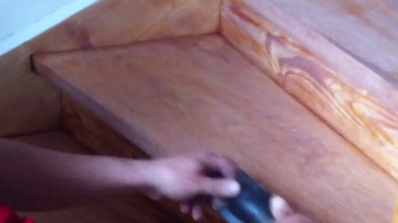 Holz treppe renovieren teil 2 youtube for Treppe aufarbeiten