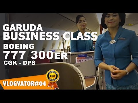 GARUDA INDONESIA Business Class BOEING 777 300ER - Vlogvator#04