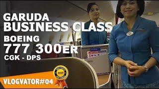 GARUDA INDONESIA Business Class BOEING 777 300ER - Vlogvator#04