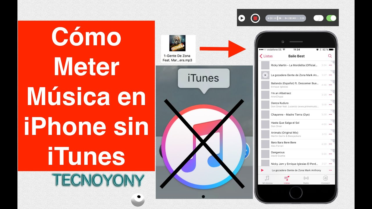 pasar musica a iphone sin itunes
