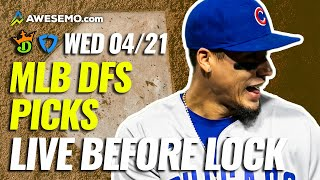 MLB DFS PICKS: DRAFTKINGS \u0026 FANDUEL LINEUPS \u0026 NEWS | WEDNESDAY 4/21