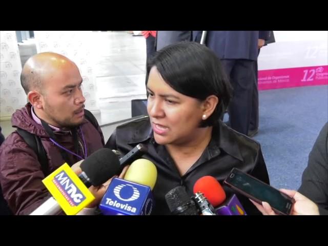 Entrevista a la Dra. Perla Gómez al término de la inauguración del 12 Congreso Nacional OPAM