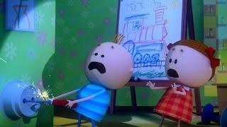 Аркадий Паровозов спешит на помощь - Почему опасно совать отвертку в розетку? - мультфильм детям