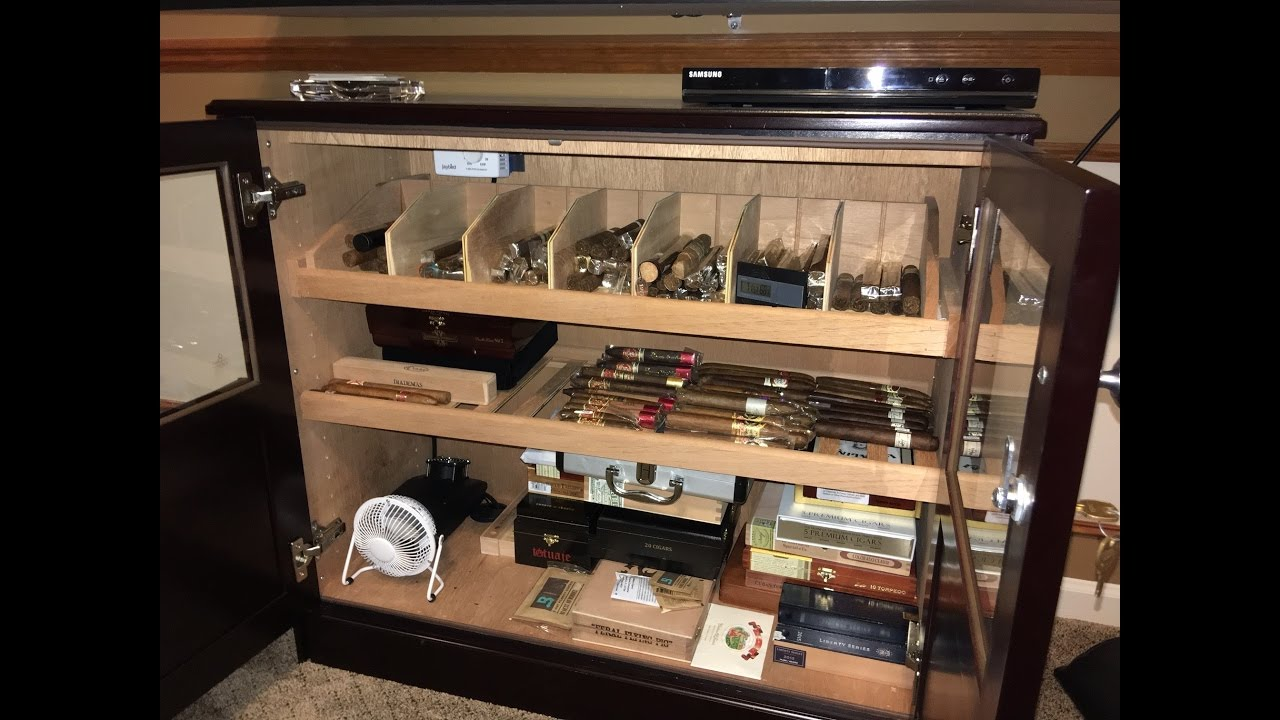 Custom Cabinet Humidor Tour - YouTube