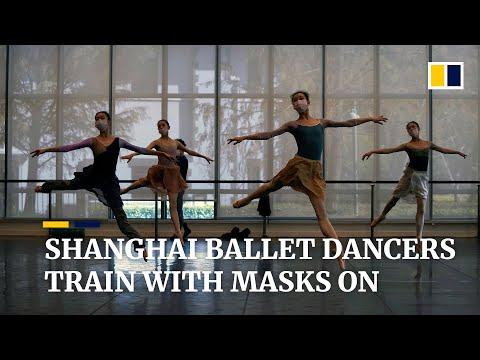Masked ballet dancers in Shanghai pirouette and plie amid coronavirus epidemic