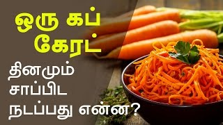 Carrot Benefits -  What will happen if you eat a cup of carrot every day
