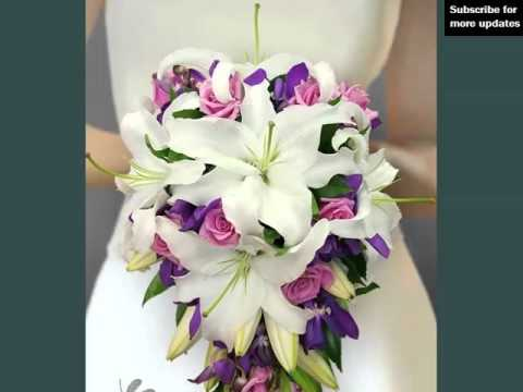 White And Purple Orchids Bouquet Set Of Pictures White And Purple