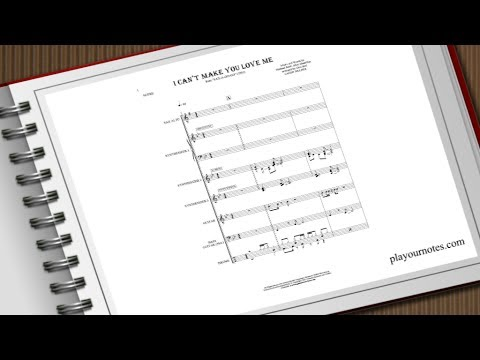 I Can't Make You Love Me - Candy Dulfer - Sheet Music