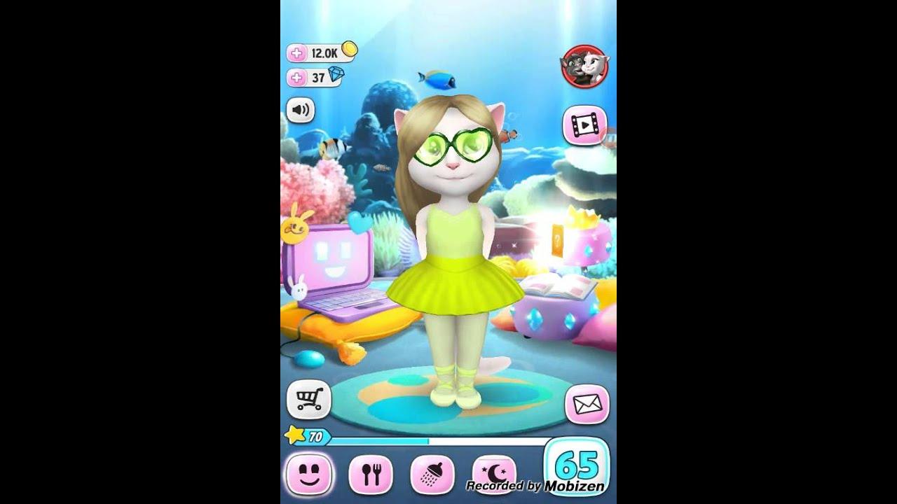 Игры моя говорящая кошка Анжела играть онлайн