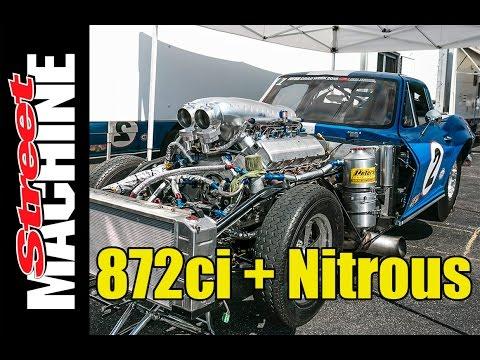 872ci Nitrous Corvette at Drag Week