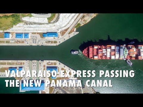 Valparaiso Express passing the new Panama Canal
