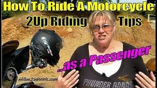 How To Ride A Motorcycle as a Passenger
