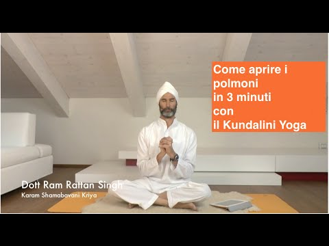 Come aprire i polmoni in 3 minuti con il Kundalini Yoga (video lezione completa)