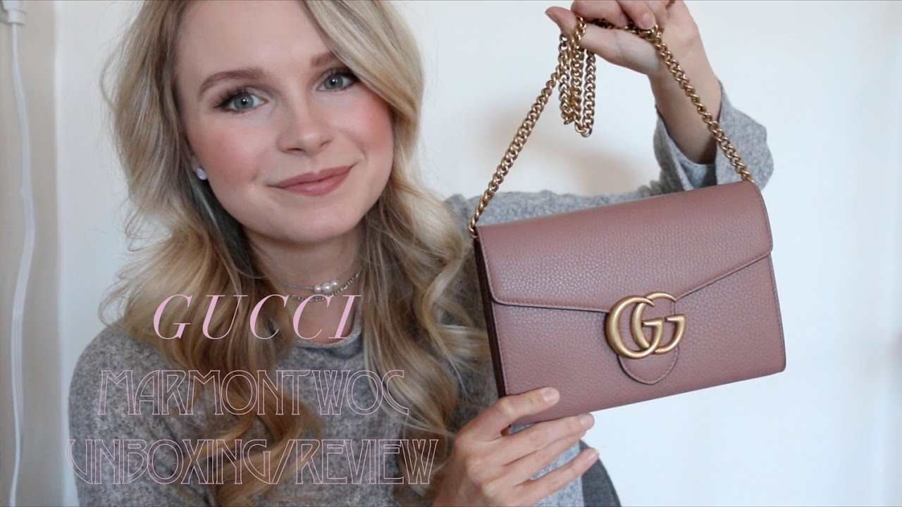 291bf5b5606 GUCCI MARMONT WOC UNBOXING   FIRST IMPRESSIONS - YouTube