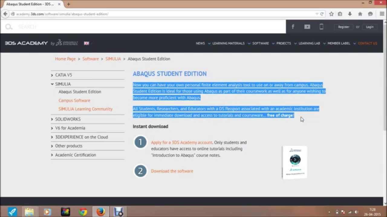 Tutorial of How to download abaqus 6 14 student edition