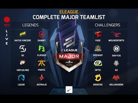 CLG vs Cloud9 and Mousesports vs Immortals ELEAGUE Major Main Qualifier With Chat