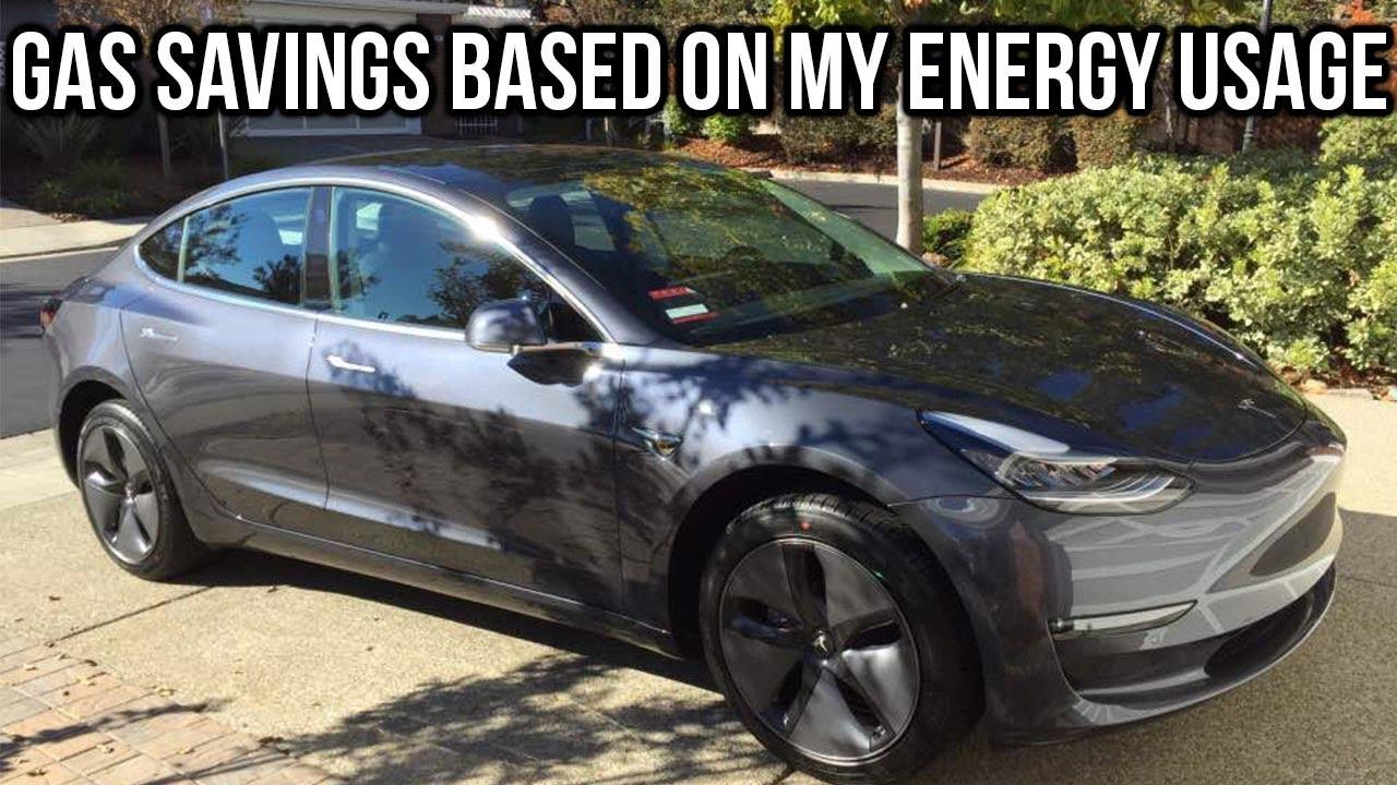 Gas Savings For Tesla Model 3