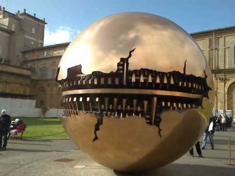 Sphere within a Sphere - Vatican City Spinning Globe.mp4