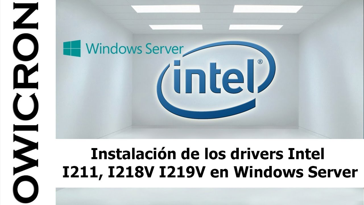 Instalación del driver de la tarjeta de red Intel I219-V en Windows Server  2008/2012/2016