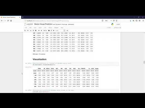 Boston house price prediction ML project assignment under Skyfi Labs