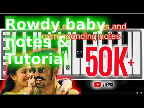 Maari-2 | Rowdy Baby | How To Play Rowdy Baby | Keyboard Notes (Right Hand)