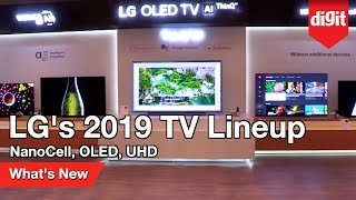 LG's 2019 TV Lineup - NanoCell, OLED and UltraHD TVs: What's New