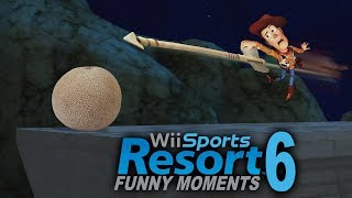 PAGS VS THE CANTALOUPE! Wii Sports Resort Funny Moments - Archery Secrets and More!! (Part 6)