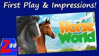 Horse world - first impressions! - is this horse caring and riding simulator worth $10?