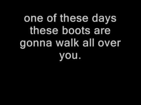 These Boots Are Made for Walking With Lyrics Nancy Sinatra from YouTube · Duration:  2 minutes 40 seconds
