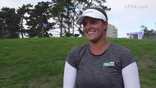 Maria Torres talks about being patient with tough conditions at the LPGA MEDIHEAL Championship
