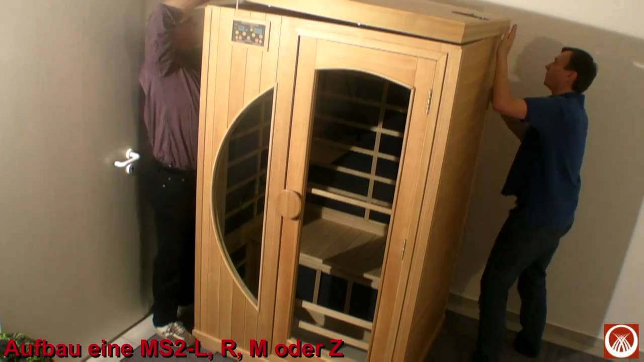 aufbau 2 personen infrarot w rmekabine in der luxus. Black Bedroom Furniture Sets. Home Design Ideas