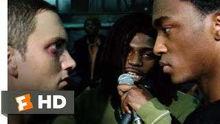 8 Mile (10/10) Movie CLIP - Rabbit Battles Papa Doc (2002) HD(8 Mile movie clips: http://j.mp/1CM8Nah BUY THE MOVIE: http://amzn.to/rShjp3 Don't miss the HOTTEST NEW TRAILERS: http://bit.ly/1u2y6pr CLIP ..., 2011-05-30T18:12:38.000Z)