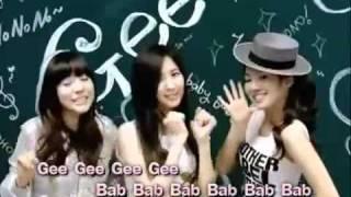 Girls' Generation Gee EngSub + Lyrics Karaoke.